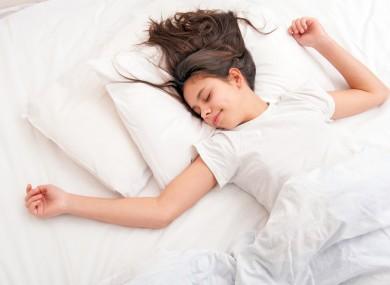 śpiąca dziewczyna